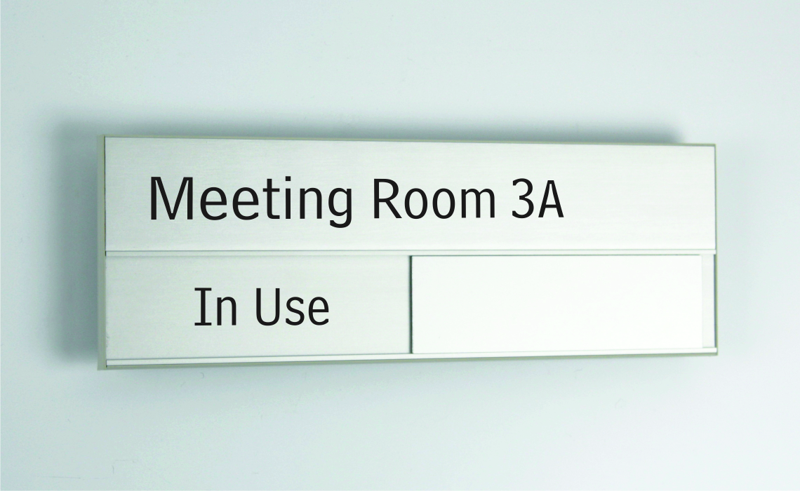 Meeting Room Signs With Inserts